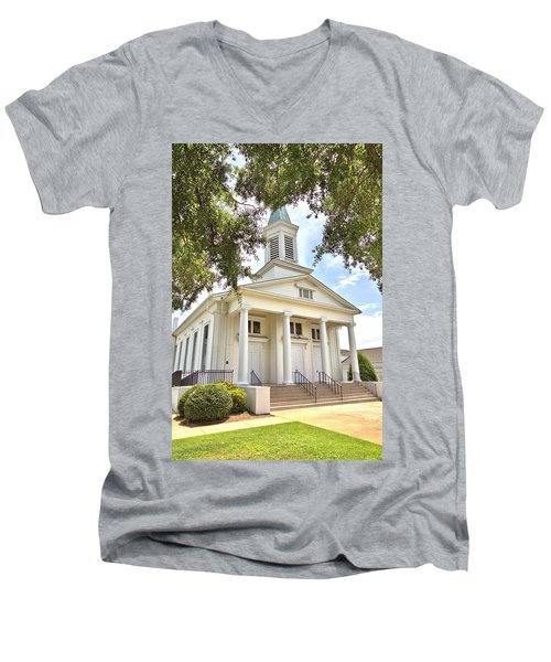 Men's V-Neck T-Shirt featuring the photograph Awaiting The Congregation by Gordon Elwell