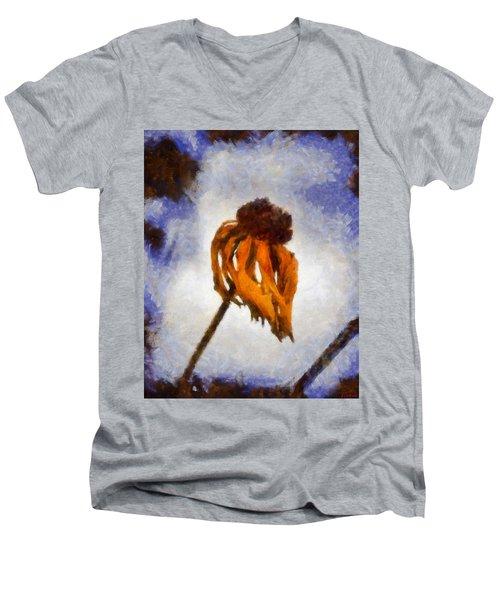 Men's V-Neck T-Shirt featuring the painting Awaken A New Life by Joe Misrasi