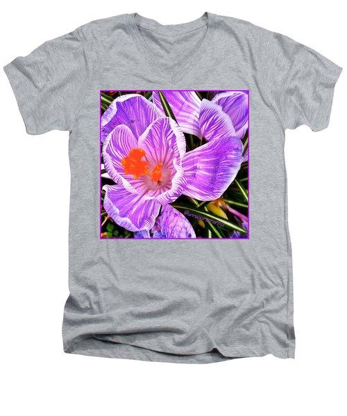 Awakening #flowers #spring #bulbs Men's V-Neck T-Shirt