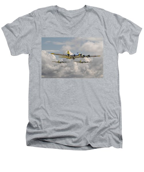 B17 486th Bomb Group Men's V-Neck T-Shirt