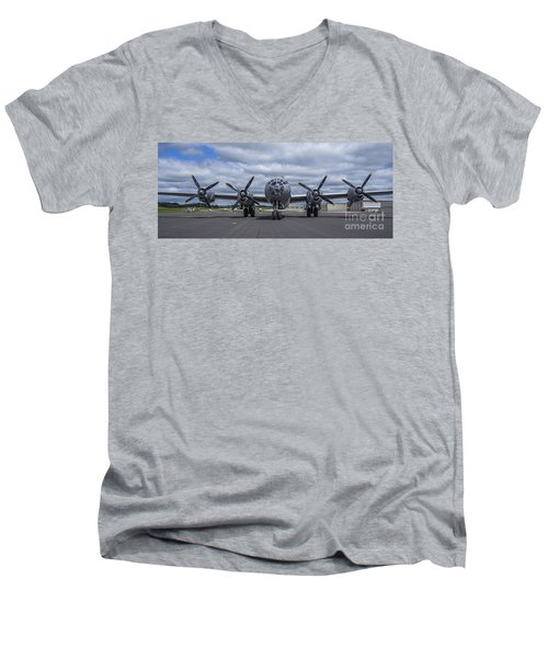 B29  Superfortress Men's V-Neck T-Shirt by Steven Ralser