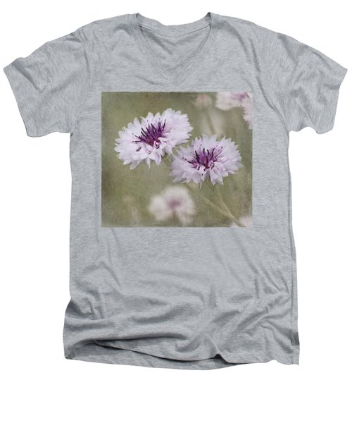 Bachelor Buttons - Flowers Men's V-Neck T-Shirt