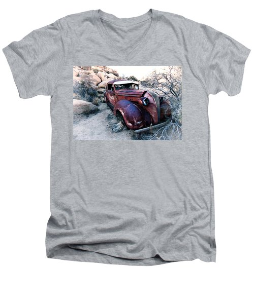 Back In Time Men's V-Neck T-Shirt