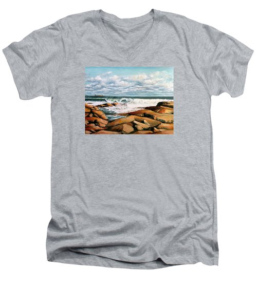 Back Shore Gloucester Men's V-Neck T-Shirt