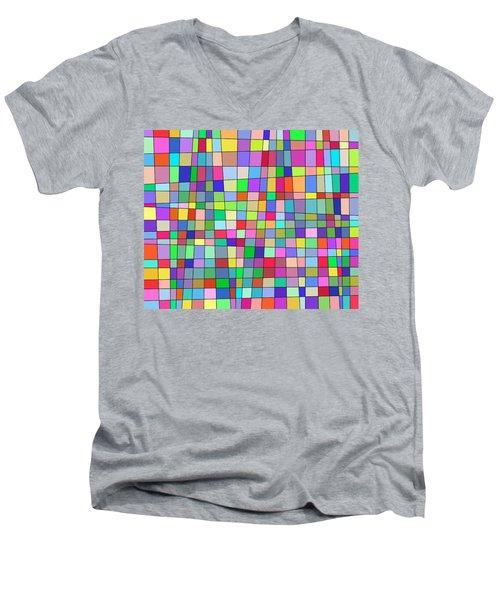 Back To Square One Men's V-Neck T-Shirt
