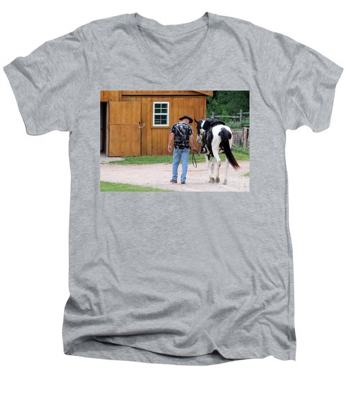 Back To The Barn Men's V-Neck T-Shirt