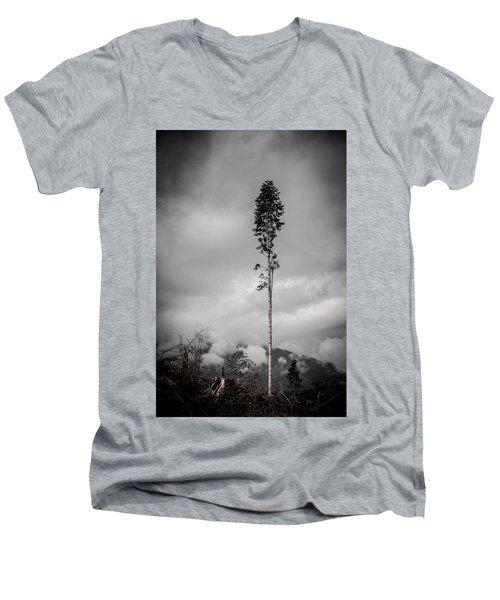 Lone Tree Landscape  Men's V-Neck T-Shirt