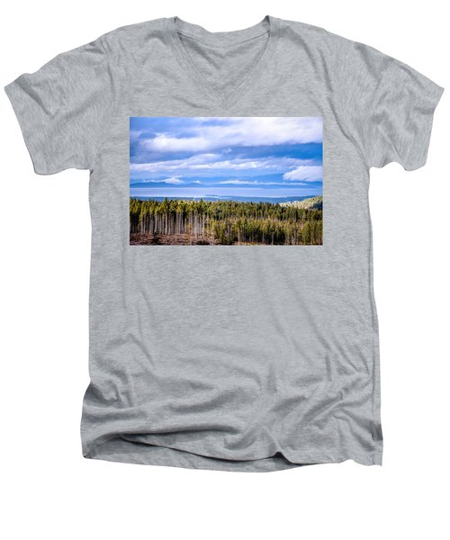 Johnstone Strait High Elevation View Men's V-Neck T-Shirt