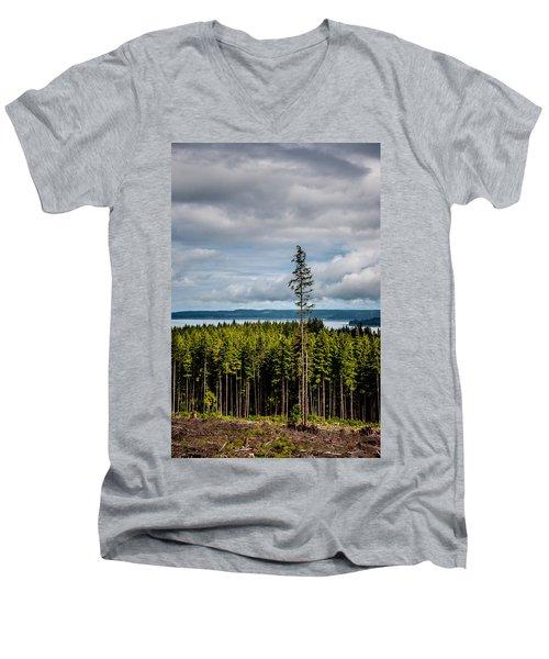 Logging Road Ocean View  Men's V-Neck T-Shirt