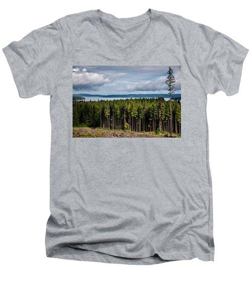 Logging Road Landscape Men's V-Neck T-Shirt