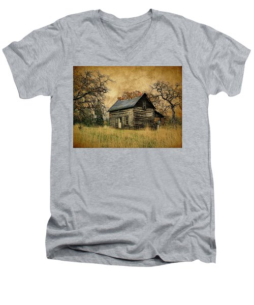 Backwoods Cabin Men's V-Neck T-Shirt