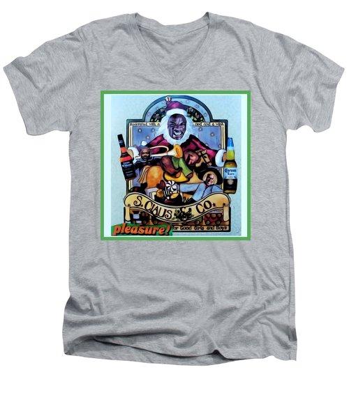 Bad Santa Men's V-Neck T-Shirt by Lisa Piper