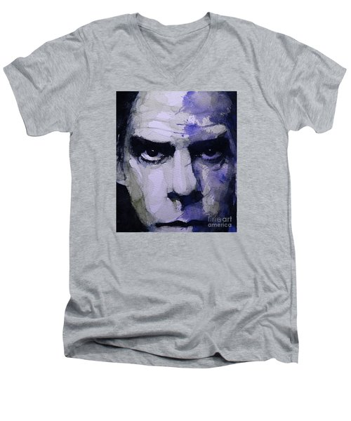 Bad Seed Men's V-Neck T-Shirt by Paul Lovering