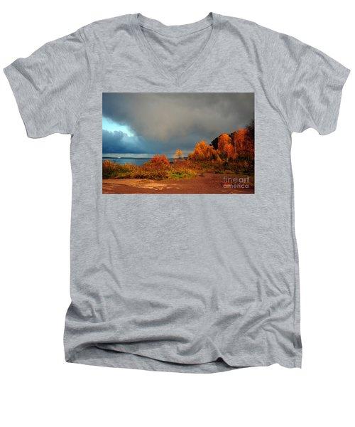 Bad Weather Coming Men's V-Neck T-Shirt
