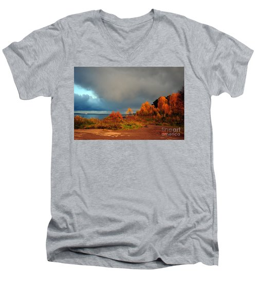Bad Weather Coming Men's V-Neck T-Shirt by Randi Grace Nilsberg