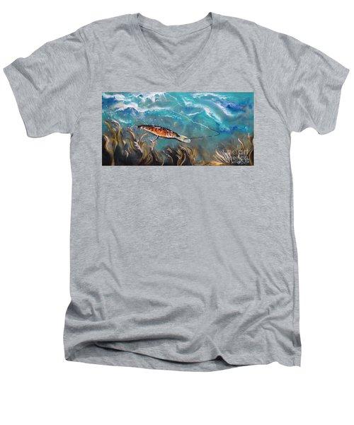 Bagley's Deep Dive Men's V-Neck T-Shirt