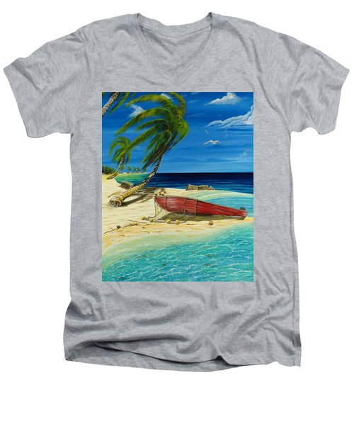 Bahama Beach Men's V-Neck T-Shirt