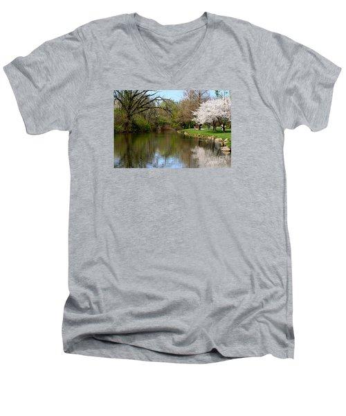 Baker Park Men's V-Neck T-Shirt by Patti Whitten