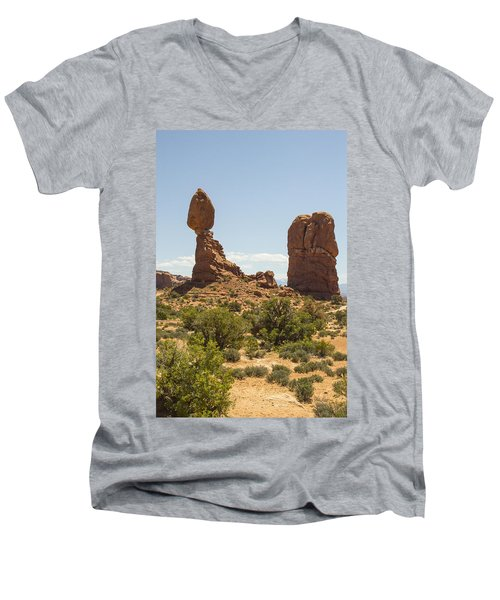 Balancing Rock In Arches Men's V-Neck T-Shirt