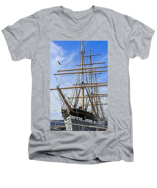 Men's V-Neck T-Shirt featuring the photograph Balclutha by Kate Brown