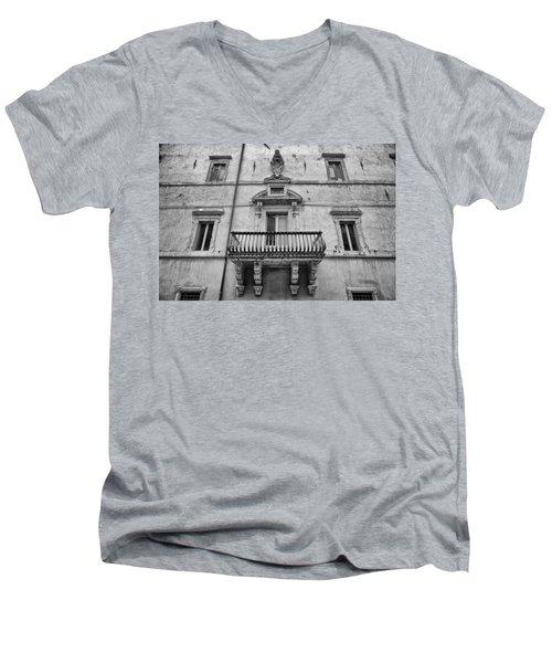 Balcony In Assisi Men's V-Neck T-Shirt