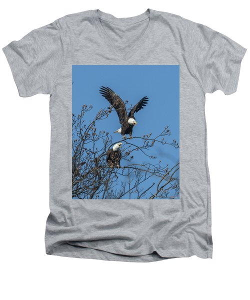 Bald Eagles Screaming Drb169 Men's V-Neck T-Shirt