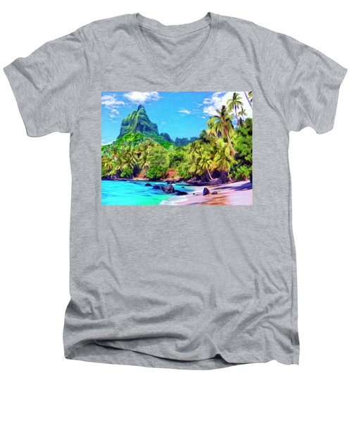 Bali Hai Men's V-Neck T-Shirt by Dominic Piperata