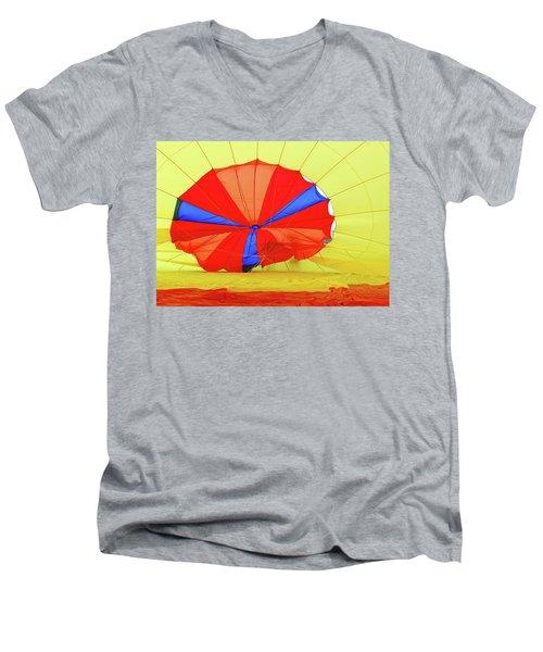 Men's V-Neck T-Shirt featuring the photograph Balloon Fantasy   1 by Allen Beatty