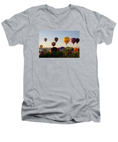 Balloon Festival Men's V-Neck T-Shirt