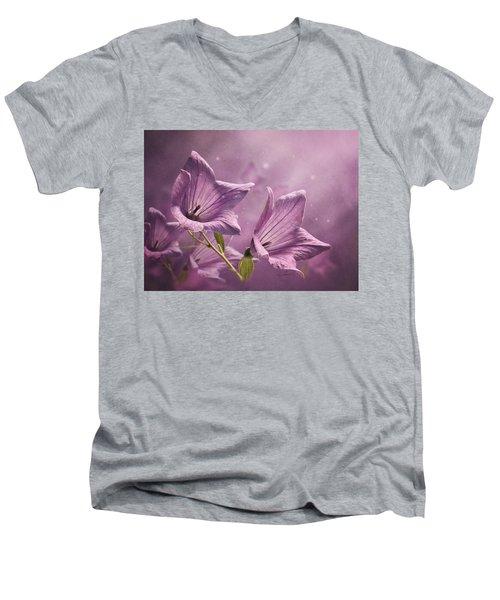 Balloon Flowers Men's V-Neck T-Shirt