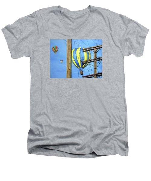 Balloon Race Men's V-Neck T-Shirt