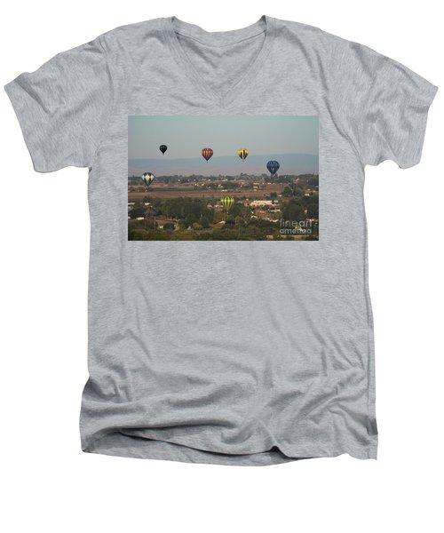 Balloons Over The Valley Men's V-Neck T-Shirt