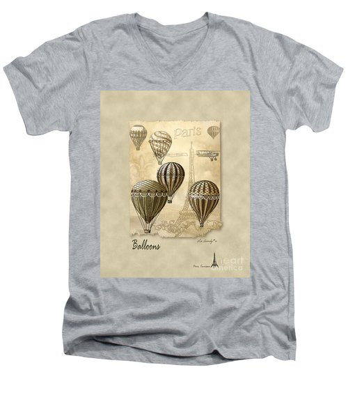 Balloons With Sepia Men's V-Neck T-Shirt