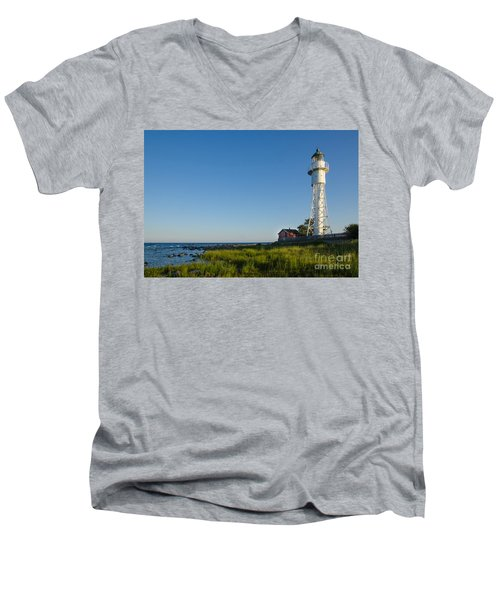 Baltic Sea Lighthouse Men's V-Neck T-Shirt