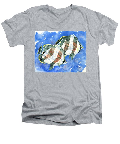 Banded Butterflyfish Men's V-Neck T-Shirt