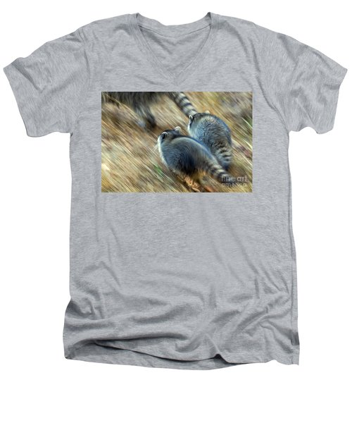 Bandits On The Run Men's V-Neck T-Shirt