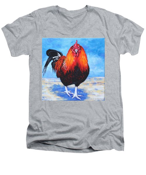 Bantam Rooster Men's V-Neck T-Shirt