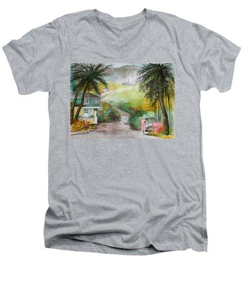 Barbados Men's V-Neck T-Shirt