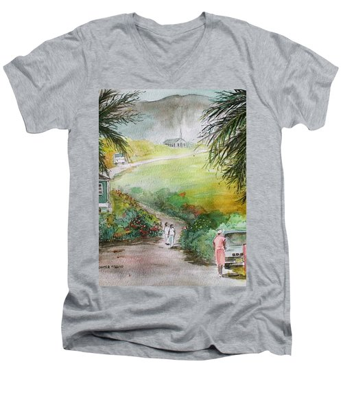 Barbados Men's V-Neck T-Shirt