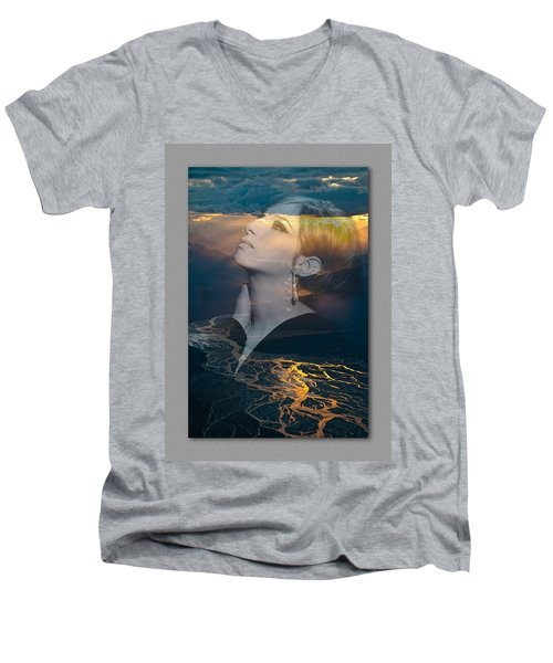 Barbra's Vision Men's V-Neck T-Shirt