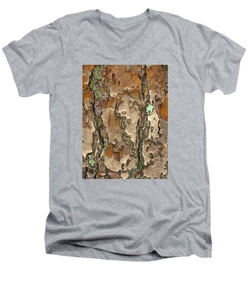 Barkreation Men's V-Neck T-Shirt by Lynda Lehmann