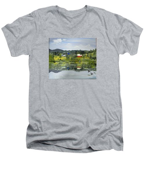 Barn At Little Elk Lake Men's V-Neck T-Shirt