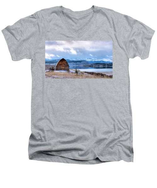 Barn At The Lake Men's V-Neck T-Shirt