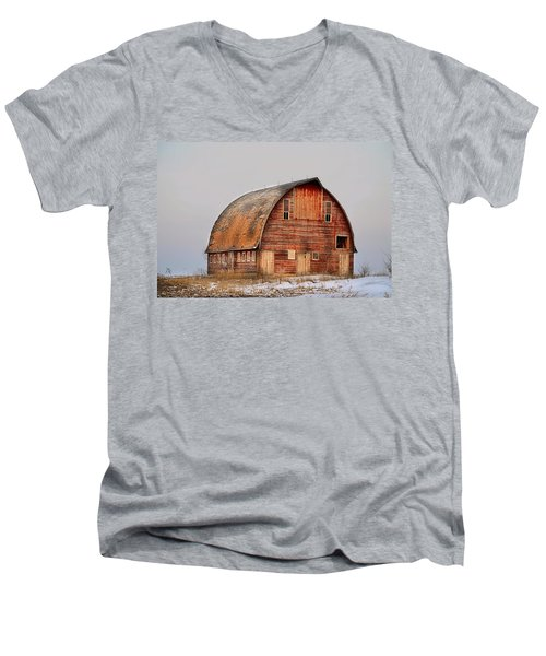 Barn On The Hill Men's V-Neck T-Shirt