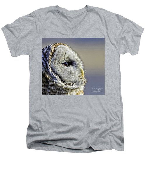Barred None Men's V-Neck T-Shirt