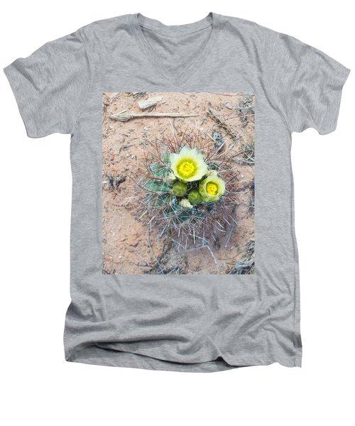 Barrel Cactus Blossoms Men's V-Neck T-Shirt