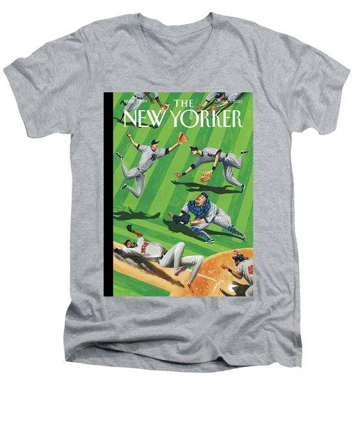 Baseball Ballet Men's V-Neck T-Shirt