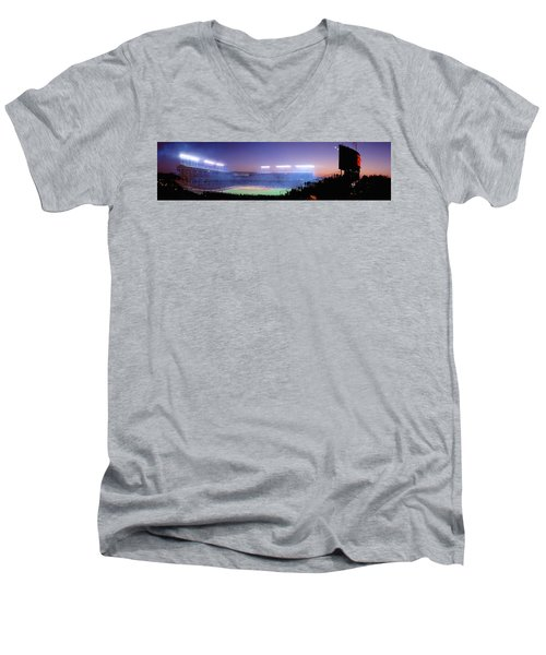 Baseball, Cubs, Chicago, Illinois, Usa Men's V-Neck T-Shirt by Panoramic Images