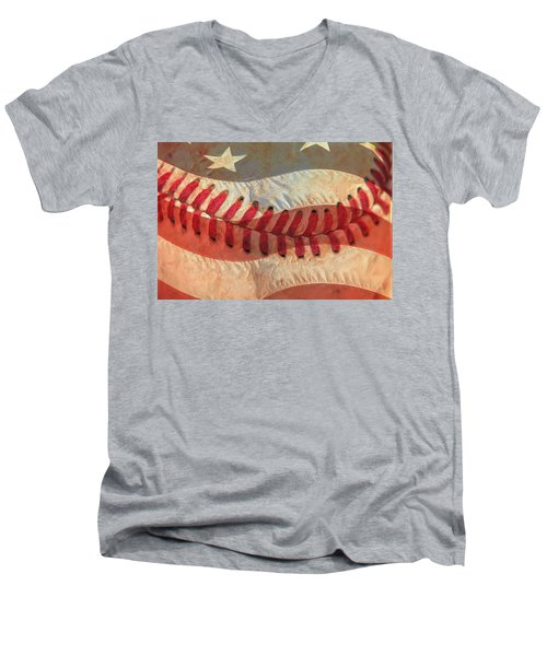 Baseball Is Sewn Into The Fabric Men's V-Neck T-Shirt