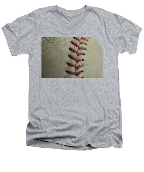 Baseball Macro Men's V-Neck T-Shirt